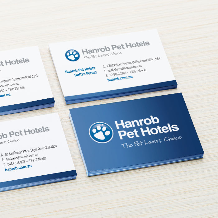 Hanrob pet hotels business cards handstand graphics hanrob pet hotels business cards colourmoves